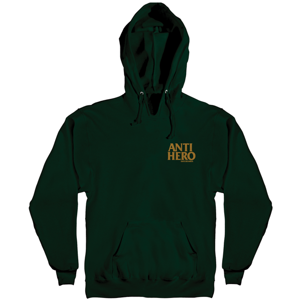 Antihero Lil Blackhero Embroidered Hoodie - Dark Green