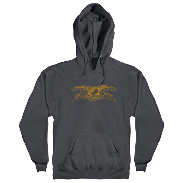 Antihero Basic Eagle Hoodie - Charcoal