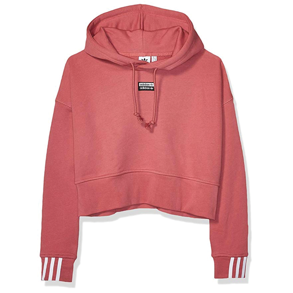 Adidas Women's Vocal Crop Hoodie - Maroon