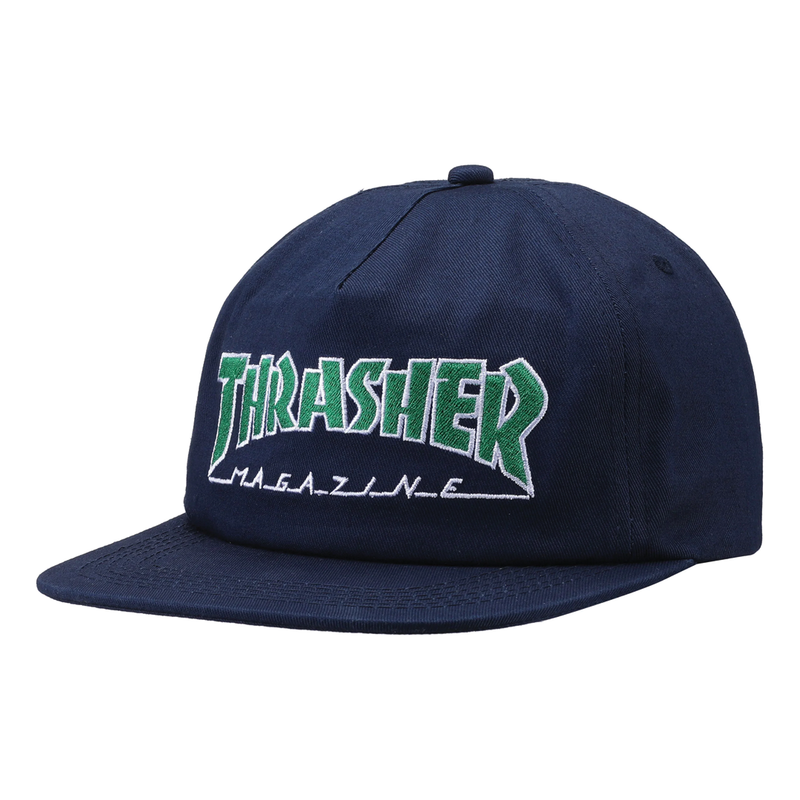 Thrasher Outlined Hat - Navy/Green