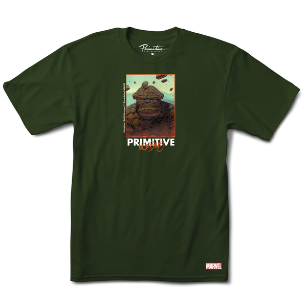 Primitive Marvel Thing Tee - Military Green
