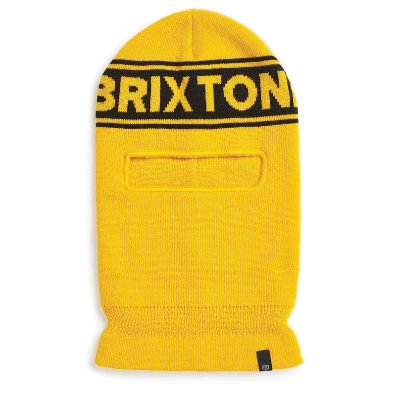 Brixton Sprocket Face Mask - Yellow/Black