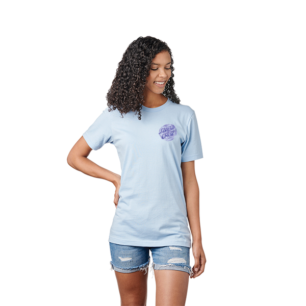 Santa Cruz Tattered Dot Tee - Baby Blue