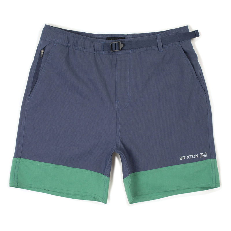 Brixton Cinch Crossover Short - Washed Navy/Fern