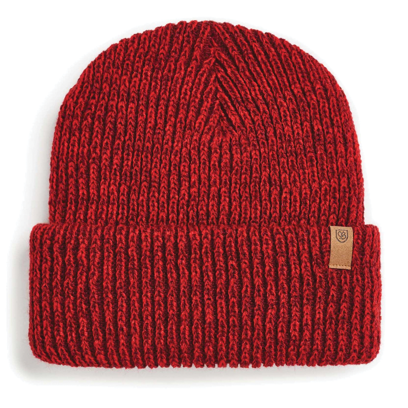 Brixton Halifax Beanie - Navy/Brown