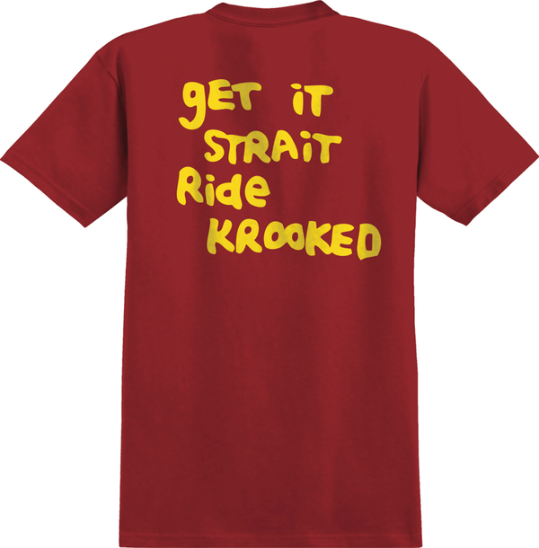 Krooked Strait Eyes Tee - Red