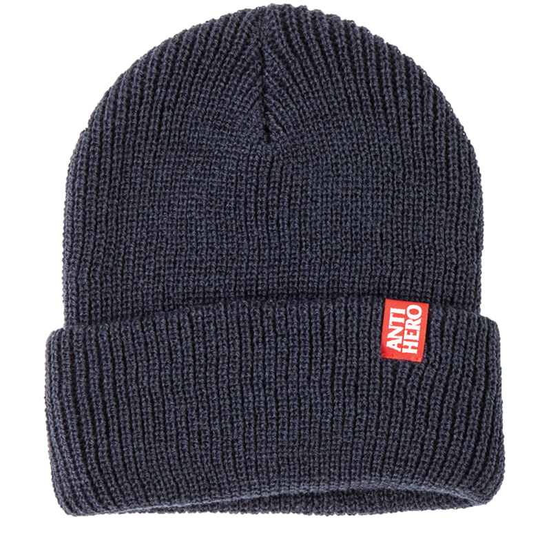 Antihero Label Beanie - Navy/Red
