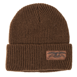 Antihero Label Beanie - Brown/Brown