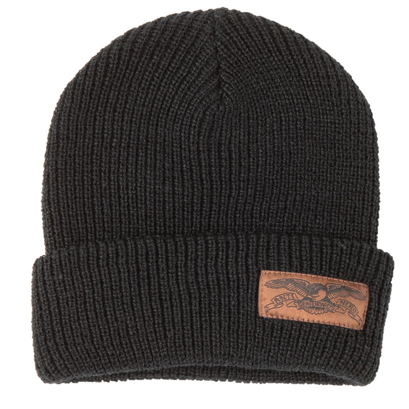 Antihero Label Beanie - Black/Brown