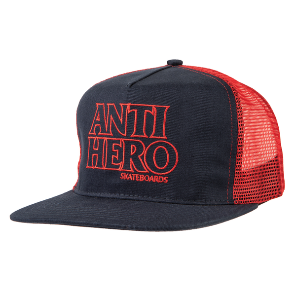 Antihero Outline Mesh Hat - Navy/Red