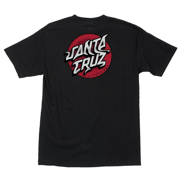 Santa Cruz Damaged Dot Tee - Black