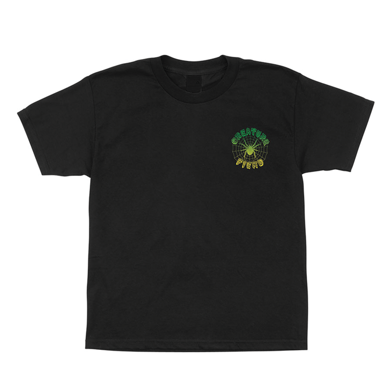 Creature Web Tee Youth - Black