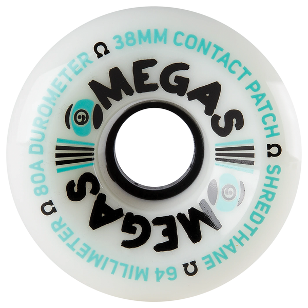 Sector 9 Omega Wheels 80A White - 64mm