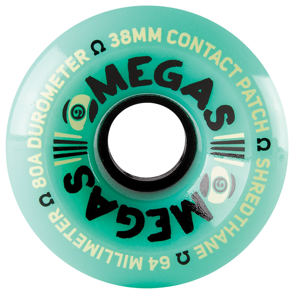 Sector 9 Omega Wheels 80A Teal - 64mm