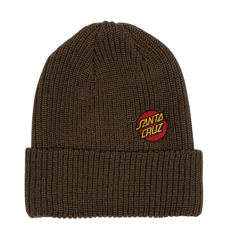 Santa Cruz Mini Dot Beanie - Brown