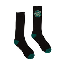 Santa Cruz 2-Pack Men's Crew Socks - Black/Green