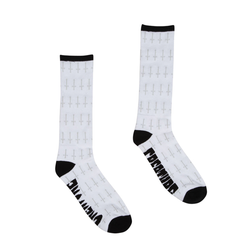 Creature Holy Crosses Men's Crew Socks - White