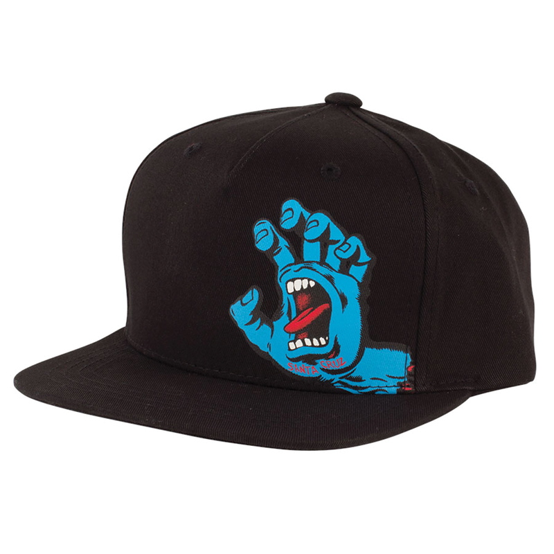 Santa Cruz Screaming Hand Youth Hat - Black
