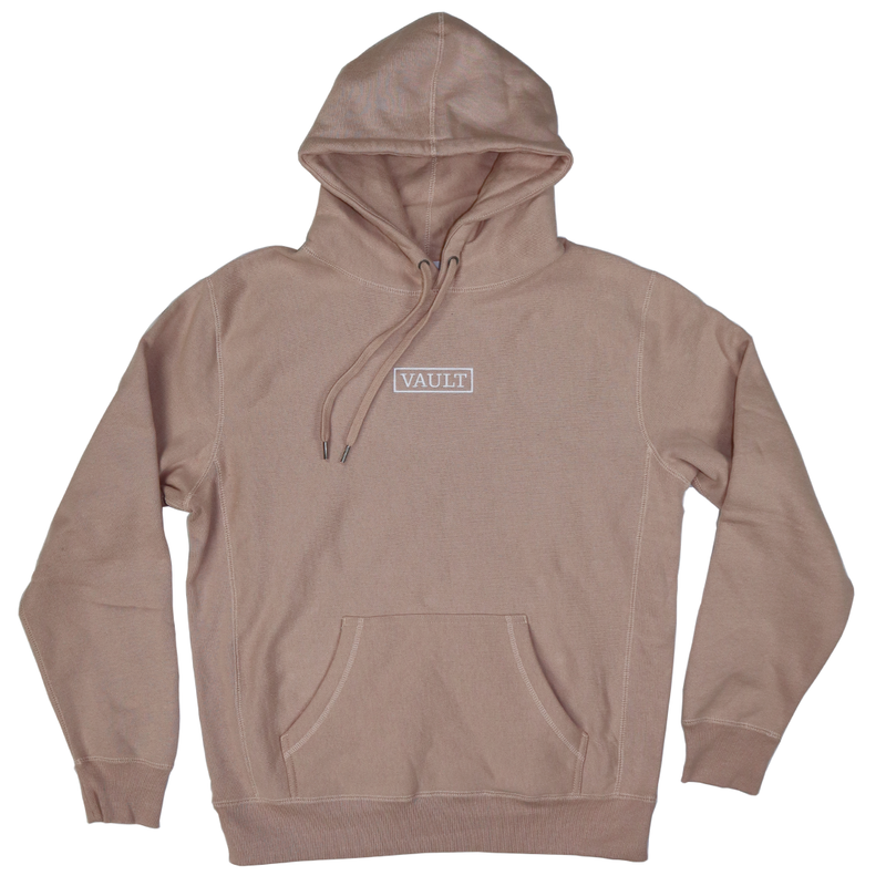 Vault Embroidered Logo Heavyweight Hoodie - Pink