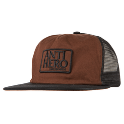 Antihero Reserve Patch Mesh Hat - Black/Brown