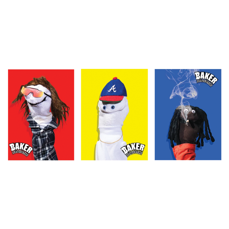 Baker Sock Puppets Sticker