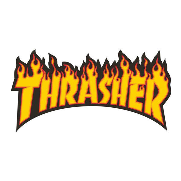 Thrasher Flame Sticker Medium