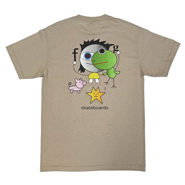 Frog Skateboards Frog Kid! T-Shirt - Oatmeal