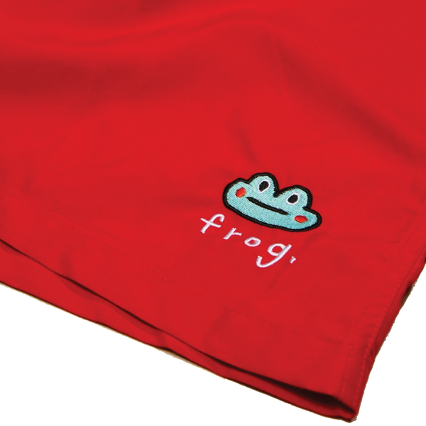 Frog Skateboards Swim Trunks - Red