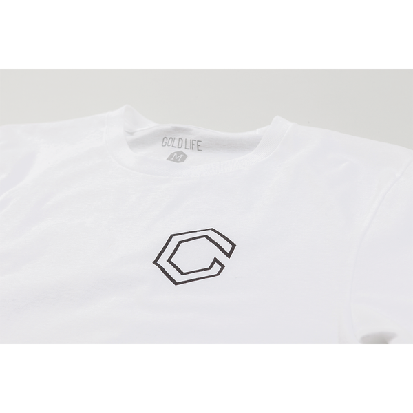 Gold Life Outlined Tee - White