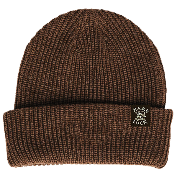 Hard Luck OG Logo Beanie - Brown
