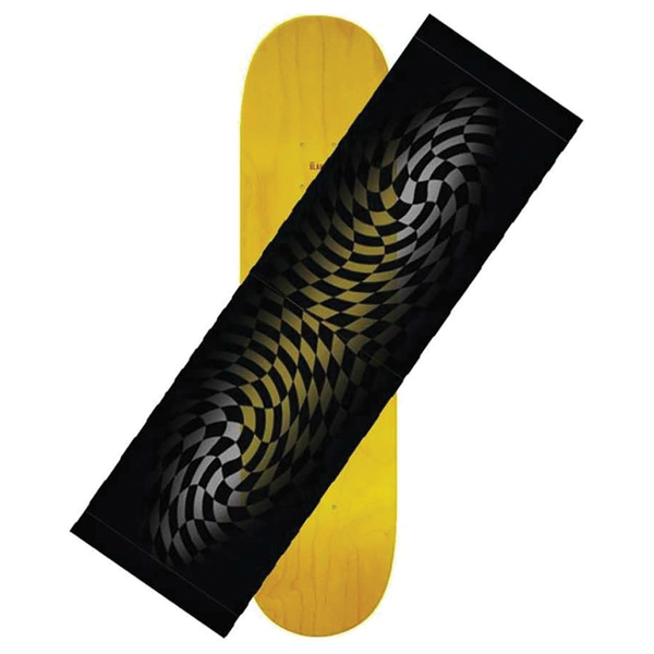 Hard Luck Faded Checker Griptape Sheet - Black/Clear