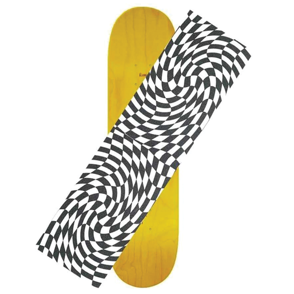 Hard Luck Warped Checker Griptape Sheet - Black/Clear