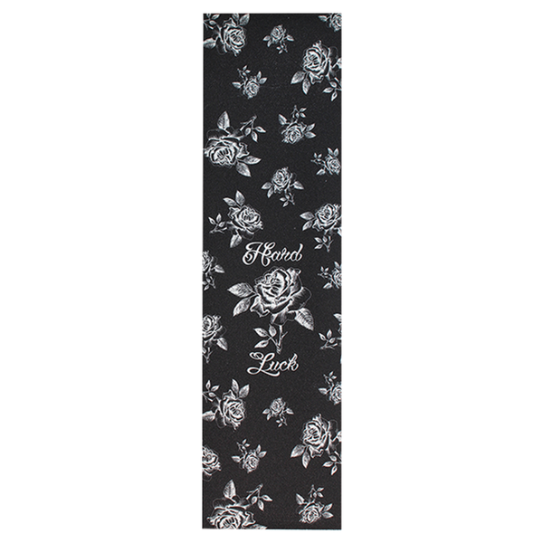 Hard Luck Rose Script Grip - Clear/Black
