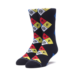 HUF Hazard Sock - Black