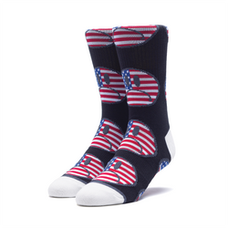 HUF Bummer USA Sock - Black