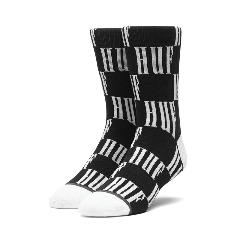 HUF Big Checkered Sock - Black