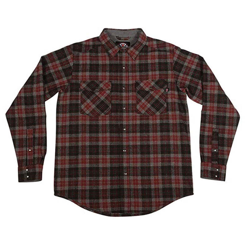 Indy Mill Flannel - Red/Black