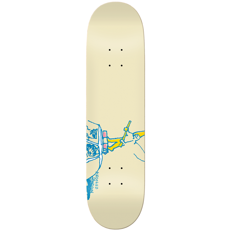 Krooked Ronnie Ride Along Deck - 8.5""