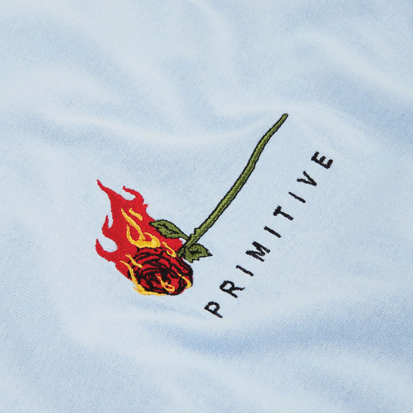 Primitive Burning Rose Tee - Blue