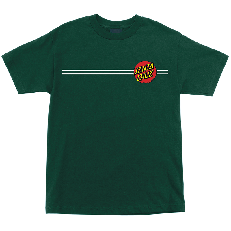 Santa Cruz Classic Dot Tee - Forest Green