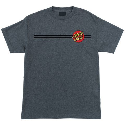 Santa Cruz Classic Dot Tee - Heather Grey