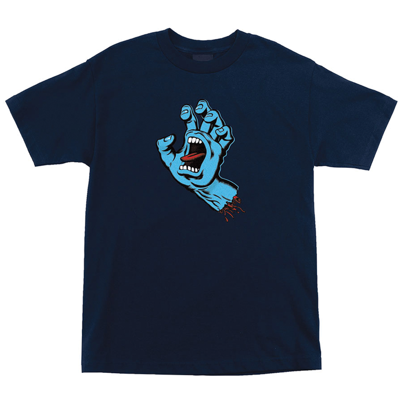 Santa Cruz Screaming Hand Tee - Navy