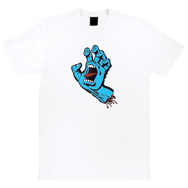 Santa Cruz Screaming Hand Tee - White
