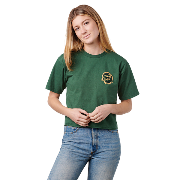 Santa Cruz Dot Reflection Crop Tee - Forest Green