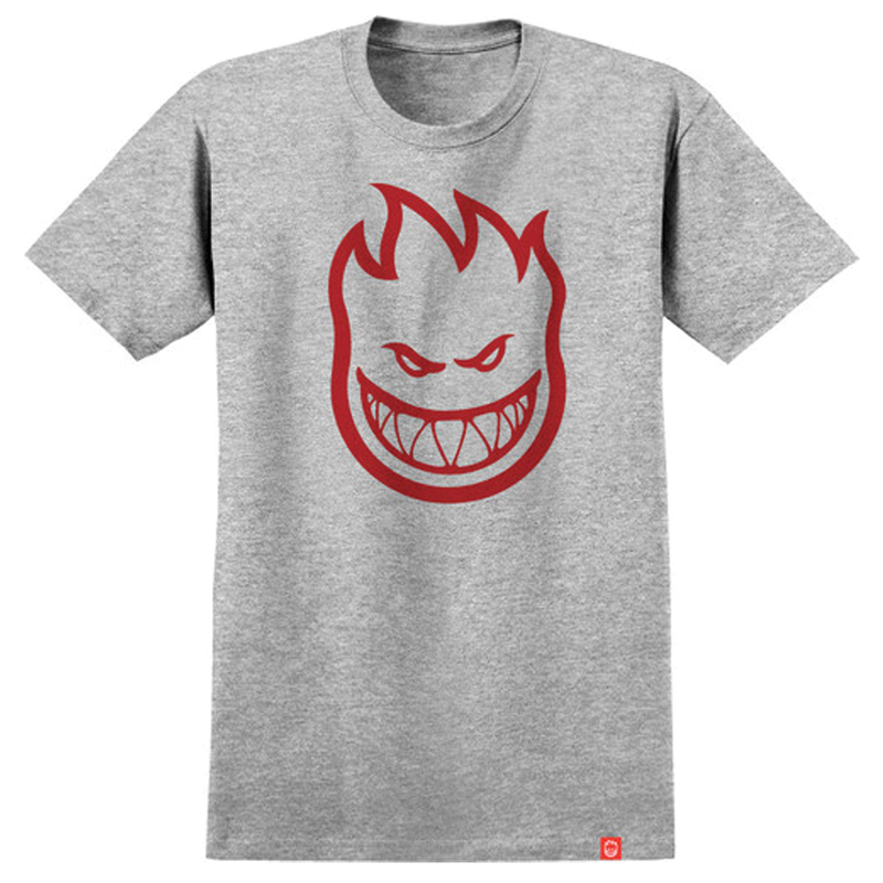 Spitfire Youth Bighead Tee - Grey/Red