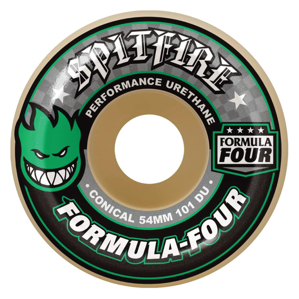 Spitfire Formula 4 Conical 101d White/ Green - 53mm