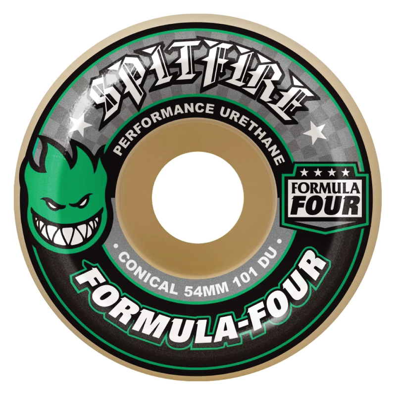Spitfire Formula 4 Conical 101d White/ Green - 52mm
