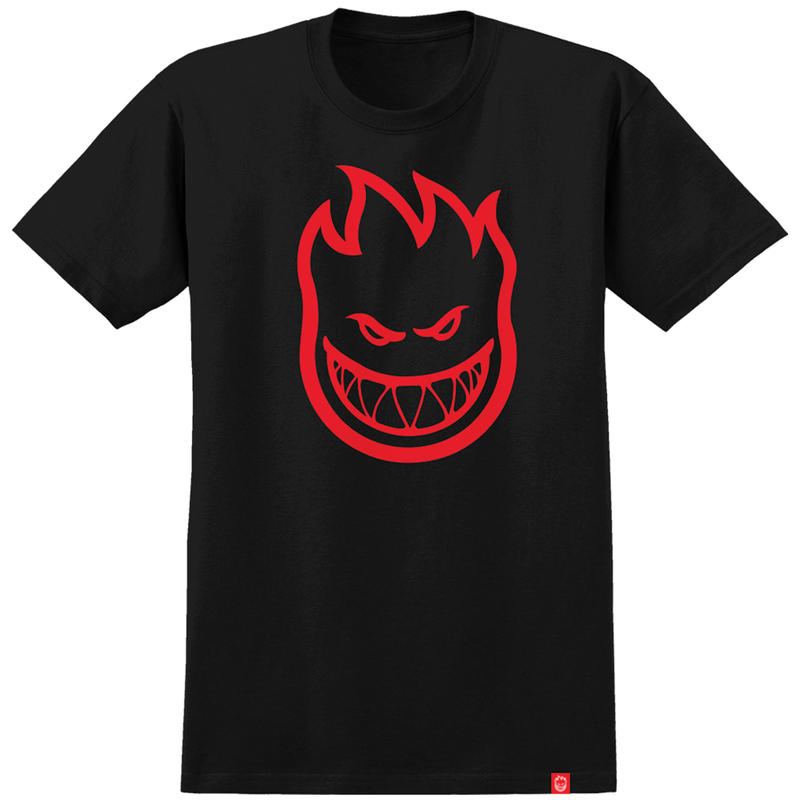 Spitfire Bighead Tee - Black/Red