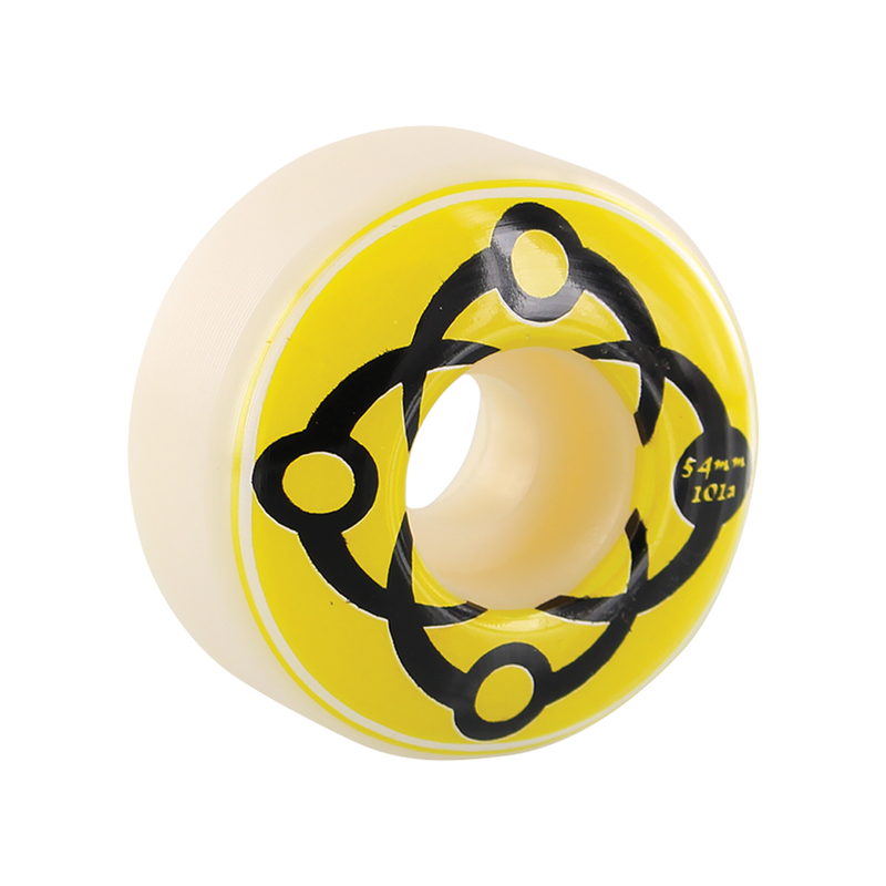 Satori Big Link Wheels 101a Wht/Yellow/Blk - 54mm