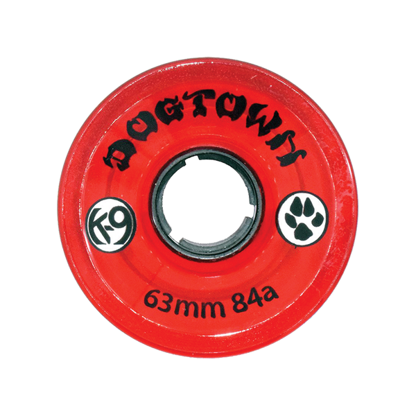 Dogtown K-9 Cruiser Wheels 84a Clear Red - 63mm